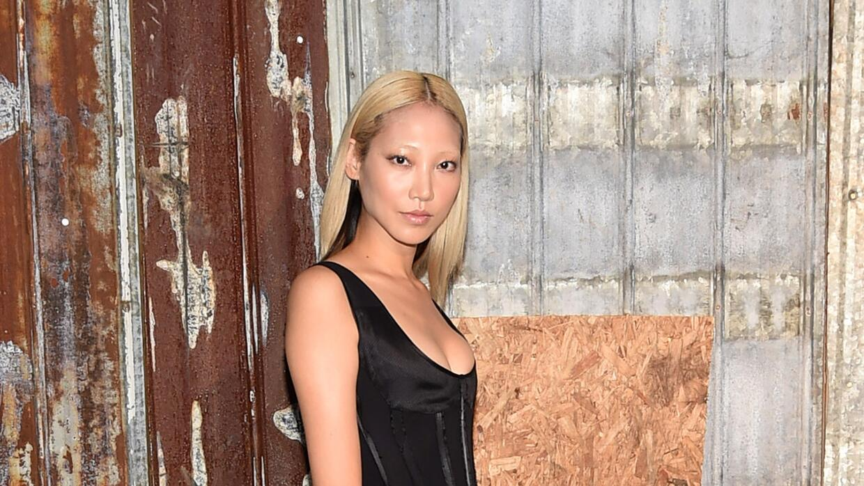 Glam Chic Model Soo Joo Park attends the Givenchy fashion show