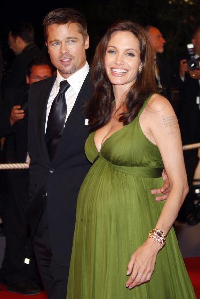 Angelina, cuando estuvo embarazada de los gemelos, en el verano de 2008.