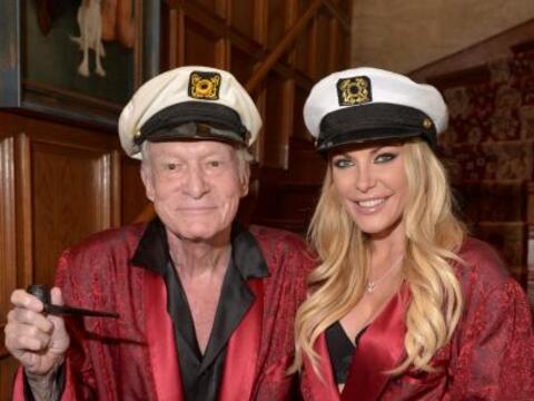 Hugh y Crystal Hefner fueron anfitriones de una noche en la que adem&aac...