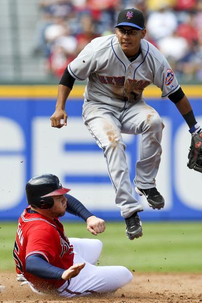 2B. Rubén Tejada. Mets de Nueva York. En la temporada, Tejada tiene un p...
