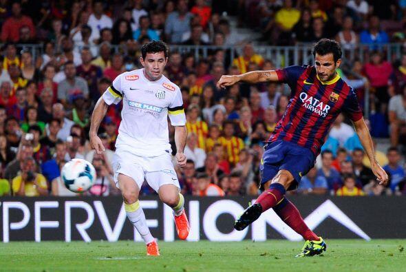 Cesc hizo su gol en el segundo tiempo a pase de Neymar.