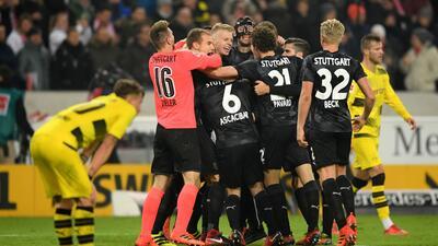 El Stuttgart le pegó 2-1 al Borussia Dortmund.