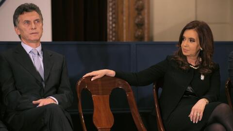 Macri y Cristina Fernandez de Kirchner