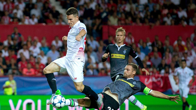 Kevin Gameiro abrió la cuenta en la victoria del Sevilla en Champions.
