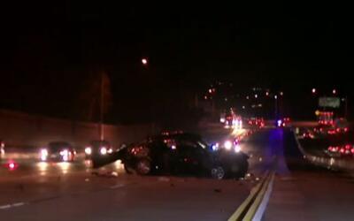 'Los Ángeles en un Minuto': aparatoso accidente de tránsito deja un sald...