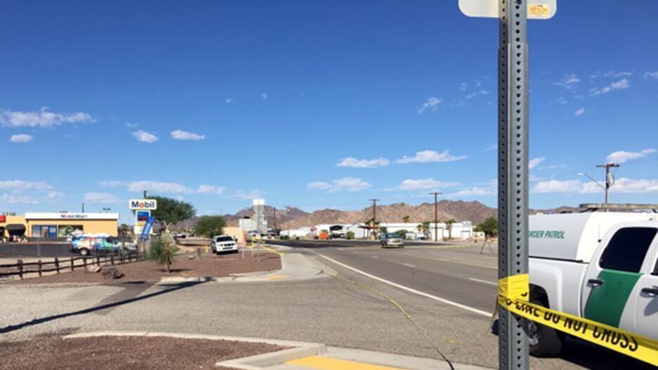Imágenes tomadas en el lugar donde ocurrió el tiroteo.