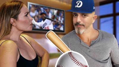 Pleito entre La Bronca y 'El Ojitos' en pleno final del juego entre los Dodgers y los Milwaukee Brewers