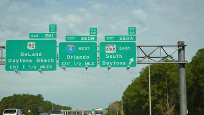El primer puesto lo ocupa la I-4 de Tampa a Daytona Beach con un estimad...
