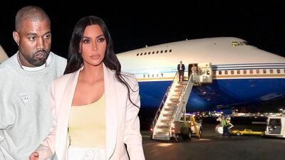 """Kim Kardashian y Kanye West presumen lujoso avión con recámaras, sala, oficina y dicen que """"no es gran cosa"""""""