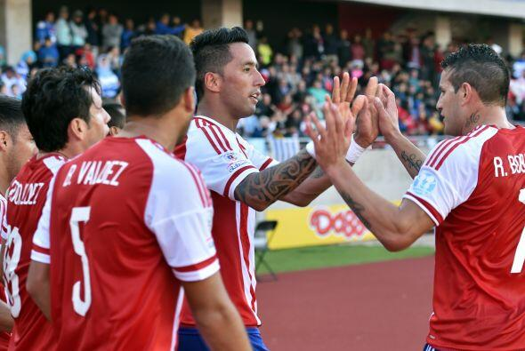 La reacción de Paraguay se produjo a los 44 minutos por medio de Lucas B...