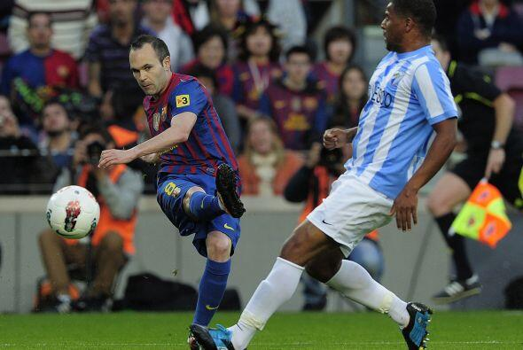 El equipo 'culé' se midió al Málaga y le propinó una goleada.