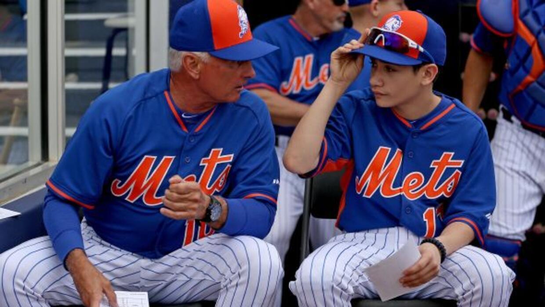 Los Mets invitaron a Justin, de 19 años, y Jayden, de 13, a los entrenam...