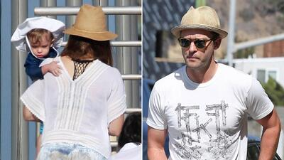Justin Timberlake y Jessica Biel disfrutan un día de playa con su hijo