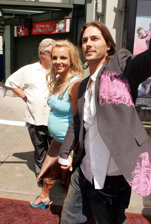 Singer Britney Spears (L) and husband Kevin Federline arrive at the Warn...