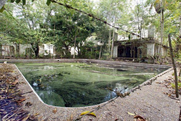 Es en esta misma piscina donde los niños del capo se zambullían. Escobar...