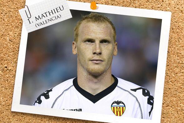 Y ya que hablamos del Valencia, Jérémy Mathieu destacó en la lateral izq...