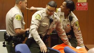 The former Hip-Hop mogul fainted after being told his bail was set for 2...