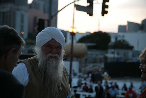 Un representante de la religión sikh.