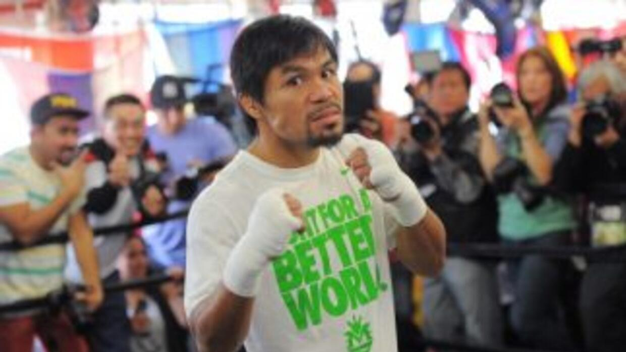 Manny Pacquiao desafió a Floyd Mayweather Jr.