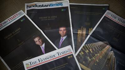 """""""Llegó Trump, ¿y tú?"""", un aviso en los principales periódicos..."""
