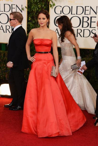Ganadora del Globo Oro y también al mejor estilo, Jennifer Lawren...