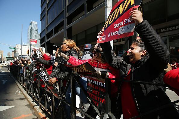 De los 8,000 empleados de Verizon en NYC, 2,500 laboran en Brooklyn.