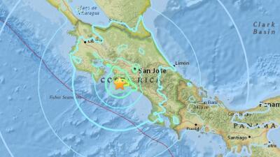 Mapa Costa Rica sismo