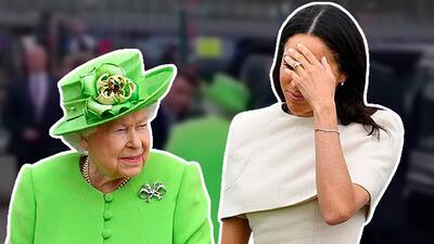 En video: esta es la verdad tras el primer 'error' de protocolo de Meghan con la reina Isabel