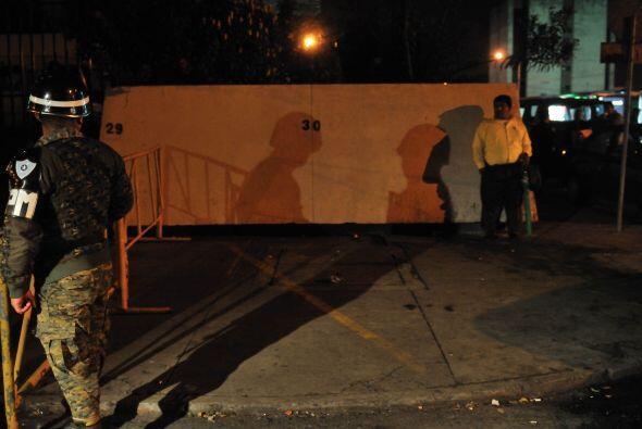 El tribunal guatemalteco, cuya sede estuvo fuertemente custodiada durant...