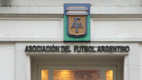 Fachada de la AFA en Buenos Aires.