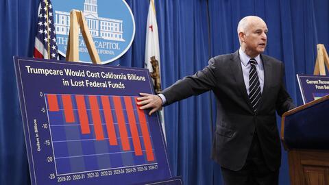 Gobernador Jerry Brown presenta su propuesta de presupuesto.