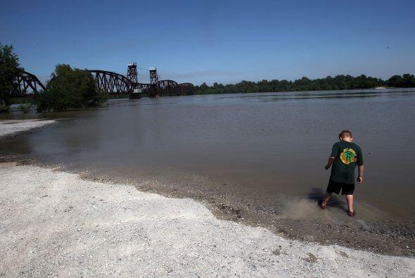 El mítico río Mississippi llega al Golfo de México en un inmenso delta q...