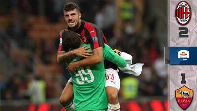 ¡En el último suspiro! Milan vence a la Roma con gol de Cutrone