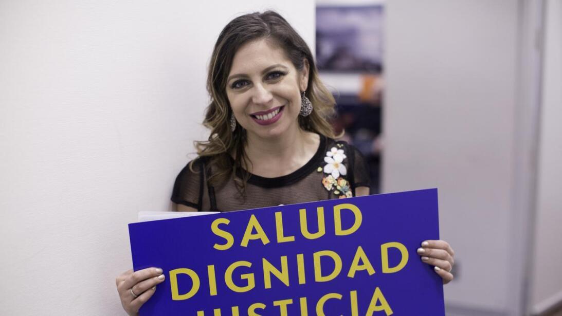 La activista Jessica González-Rojas aboga por los derechos de acceso a l...