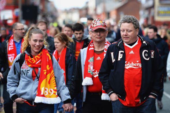 Pro el Liverpool también contaba con el apoyo de su gente, aunque menos...