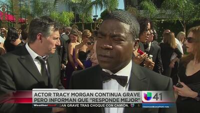 Actor Tracy Morgan continúa grave