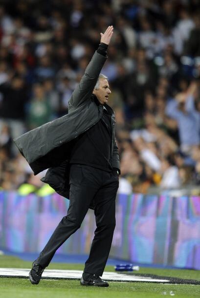 A Mourinho no le gustó ni un poquito el resultado.
