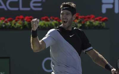 Juan Martín del Potro rompió el invicto de Roger Federer e...