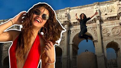 La divertida foto de Clarissa Molina en Roma que tuvo un final atropellado