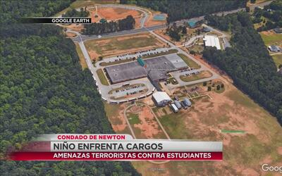 Niño acusado de amenazas terroristas en el condado Newton