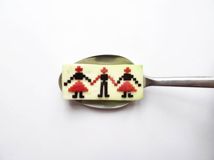 cucharas con comida