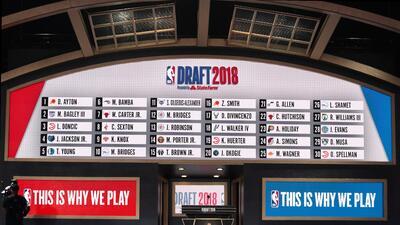En fotos: Así se vivió la edición 2018 del Draft de la NBA desde Brooklyn