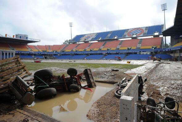 El estadio de fútbol de la Mosson, donde juega el Montpellier de la Ligu...