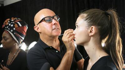 Las pelucas y el maquillaje del desfile de Georgine en NYFW