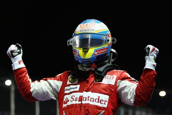 Ahora, Alonso pasó a ocupar el segundo puesto de la clasificación de pil...