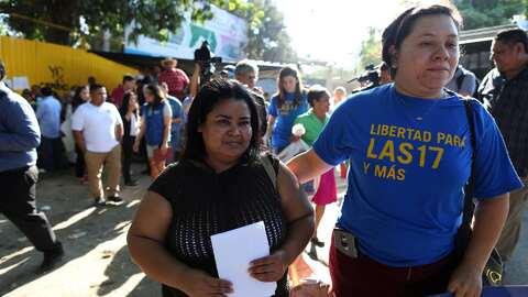 Maira Verónica Figueroa Marroquín stands outside the Ilopa...