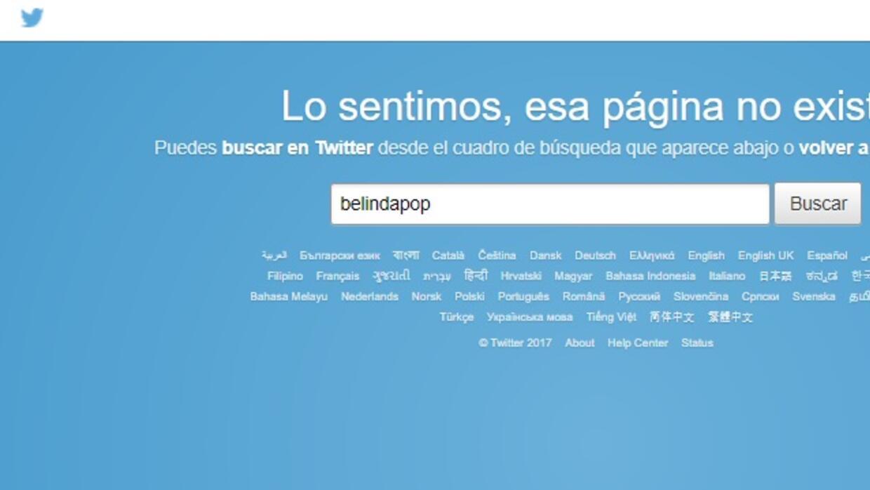 Belinda cierra su cuenta de Twitter