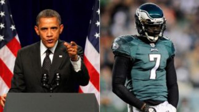 Barack Obama vela por la salud de Michael Vick.