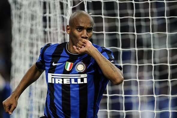 El brasileño Maicon puso en ventaja al Inter, que ya creía en el triunfo.