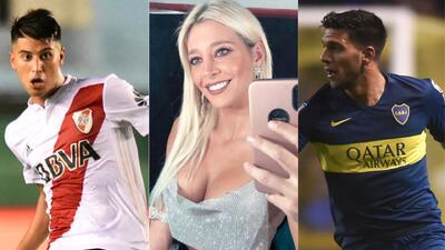 Triángulo amoroso de una modelo con jugadores de Boca Juniors y River Plate